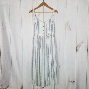 Old Navy Linen Summer Blue Stripe Nautical Dress